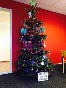 Kerstboom op de werkplek